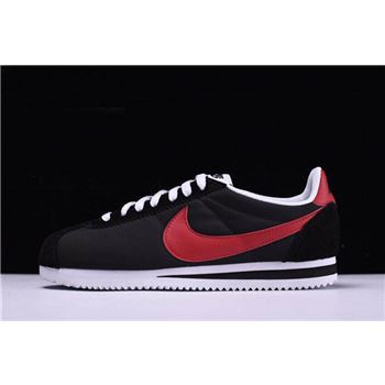 Men's and Women's Nike Classic Cortez Nylon Black/University Red-White 488291-001