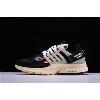 New Off White x Nike Air Presto x Virgil Abloh The Ten Black Muslin