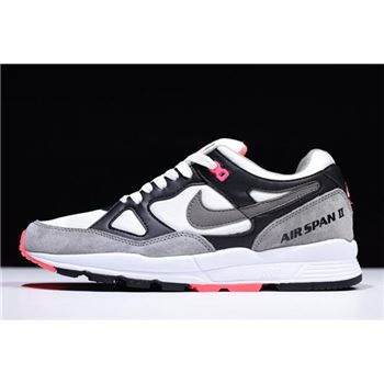Nike Air Span II Hot Coral Black/Dust-Solar Red-White AH8047-005