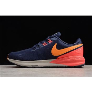 Nike Air Zoom Structure 22 Blackened Blue Orange Peel