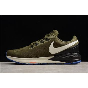 Nike Air Zoom Structure 22 Olive Black White