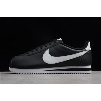 Nike Classic Cortez Leather Black/White Men's and Women's Size 807471-010