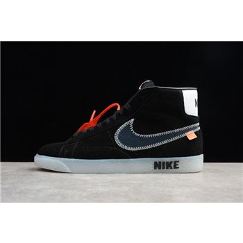 Off White x Nike Blazer Mid Black Mens and Womens Shoes