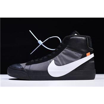 2018 OFF-WHITE x Nike Blazer Mid Grim Reepers Black/Cone-Black-White