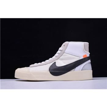 Off White x Nike Blazer Mid Virgil Abloh The Ten White Black Muslin
