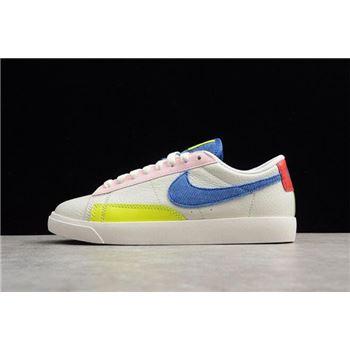 Women's Nike Blazer Low Sail/Racer Blue-Arctic Pink AQ4140-101
