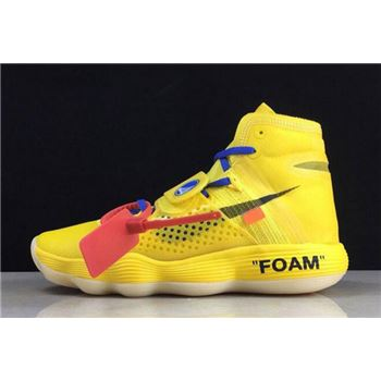 2018 Off White x Nike REACT Hyperdunk 2017 Flyknit Yellow