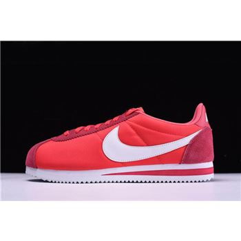 Nike Classic Cortez Nylon Gym Red White Mens and Womens Size