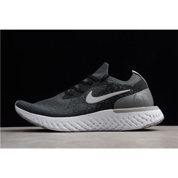 Nike Epic React Flyknit Black And Gery Printing Running Shoes