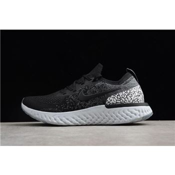 Nike Epic React Flyknit Black Gray White Mens and Womens Size Running Shoes
