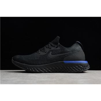 Nike Epic React Flyknit Black Racer Blue Mens and Womens sizing