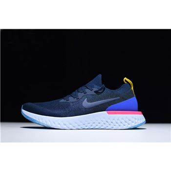 Nike Epic React Flyknit College Navy Racer Blue Running Shoe