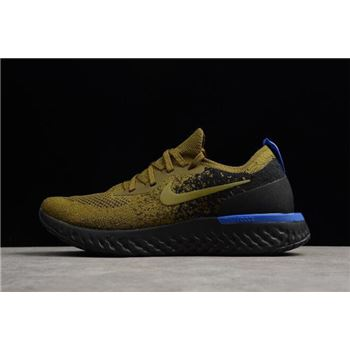 Nike Epic React Flyknit Deep Green Gold Black Blue