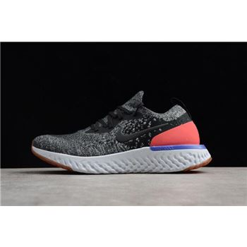 Nike Epic React Flyknit Hyper Crimson Black White Hyper Crimson Mens Running Shoes
