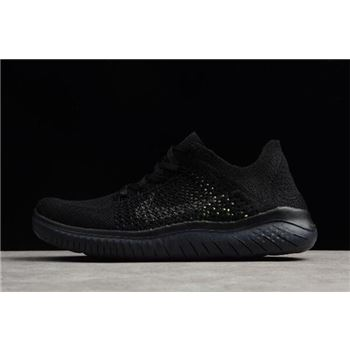Nike Free Run Flyknit 2018 Black Anthracite Mens Running Shoes