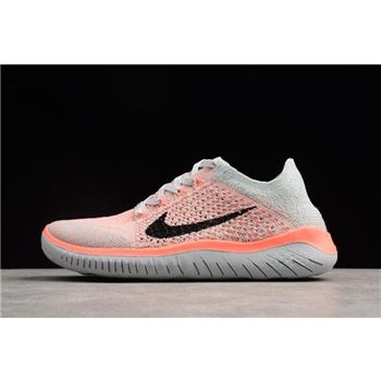 Nike Free Run Flyknit 2018 Crimson Pulse Pure Platinum Black Womens Running Shoes