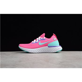 Nike WMNS Epic React Flyknit Laser Pink Dust Cactus Purple