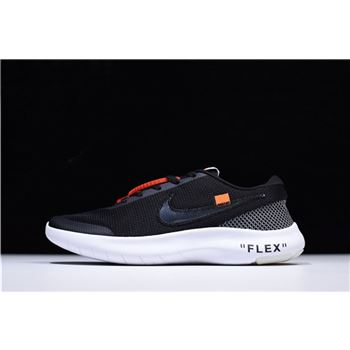 Virgil Abloh Off White x Nike Flex Experience RN 7 Black White Running Shoes