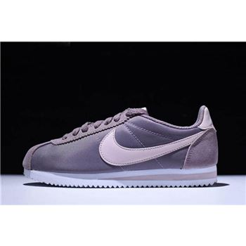 WMNS Nike Classic Cortez Nylon Taupe Grey/Silt Red-White 749864-200