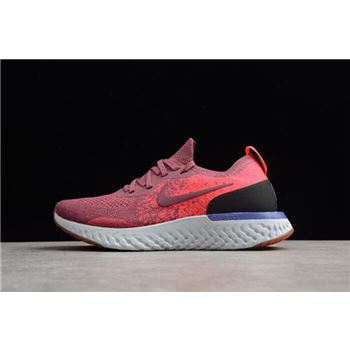 Womens Nike Epic React Flyknit Vintage Wine Rust Pink Hyper Crimson