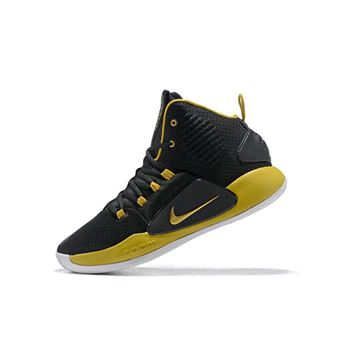 2018 Nike Hyperdunk X Black Metallic Gold White Mens Size