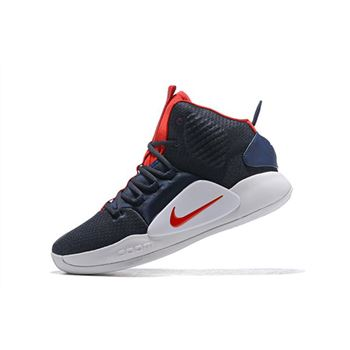 2018 Nike Hyperdunk X USA Navy Blue/Red-White AO7893-400
