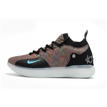 2018 Nike KD 11 Multicolor Black/Persian Violet-Bright Crimson-Chlorine Blue AO2604-001