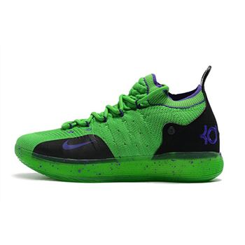 Kevin Durants Nike KD 11 Green Black Purple