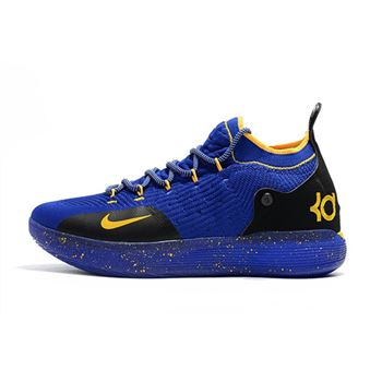 Kevin Durants Nike KD 11 Purple Black Yellow Basketball Shoes