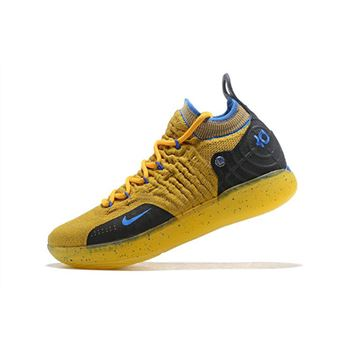 Kevin Durants Nike KD 11 Yellow Black Blue Shoes