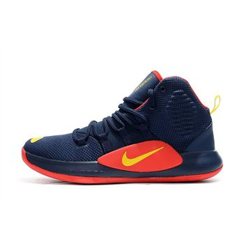 Mens Nike Hyperdunk X Navy Blue Red Yellow Basketball Shoes