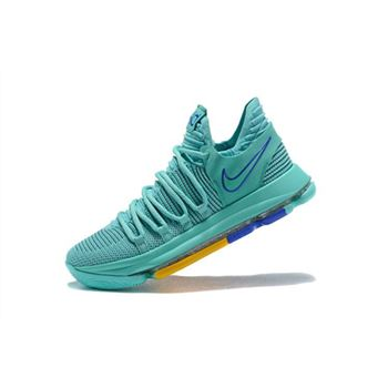 Mens Nike KD 10 City Edition 2 Hyper Turquoise Racer Blue
