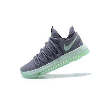 Mens Nike KD 10 Igloo Cool Grey Igloo White Basketball Shoes
