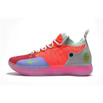 Mens Nike KD 11 Bright Crimson Orange Wolf Grey Chlorine Blue Pink