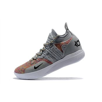 New Nike KD 11 Cool Grey Multi Color Mens Basketball Shoes