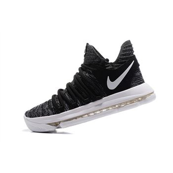 Nike KD 10 Oreo Black White Mens Basketball Shoes