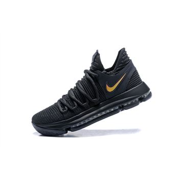 Nike KD 10 PK80 Black Metallic Gold Mens Basketball Shoes