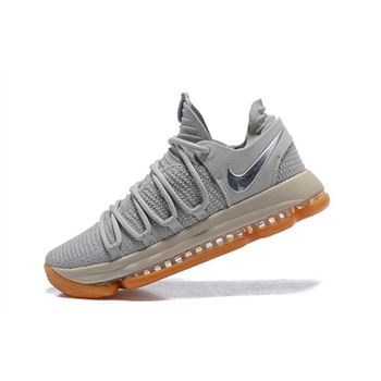 Nike KD 10 Pale Grey/Light Bone-Gum Men's Basketball Shoes 897817-001