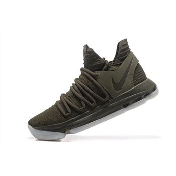 NikeLab KD 10 NL EP Olive Cargo Khaki White Mens Basketball Shoes