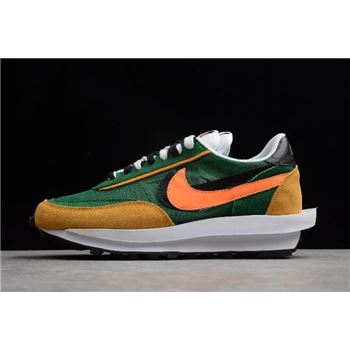 Sacai x Nike LDV Waffle Hybrid Green Yellow Black Orange