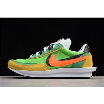 Waffle Daybreak and LDV Sacai x Nike Hybrid Collection Green Yellow White Black Orange
