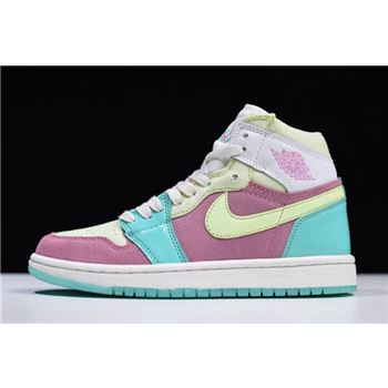 Air Jordan 1 GS Easter Sail-Hyper Turquoise/Barely Volt 555112-400