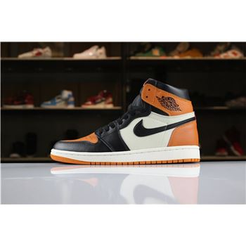 New Air Jordan 1 Retro High OG Shattered Backboard Black/Starfish-Sail For Sale