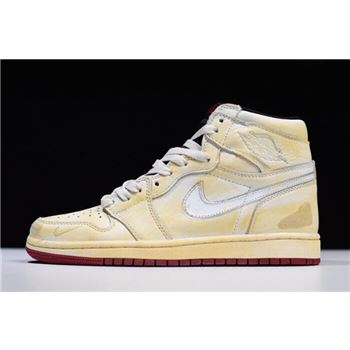 Nigel Sylvester x Air Jordan 1 High OG Sail/Varsity Red-Reflect Silver-White BV1803-106