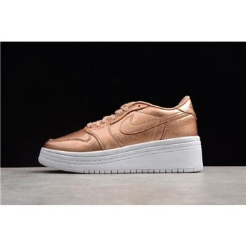 Women's Air Jordan 1 Low GS Lifted Metallic Red Bronze/Sail AO1334-901