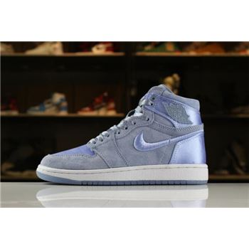 Women's Air Jordan 1 Retro High SOH Hydrogen Blue/White-Metallic Gold AO1847-445