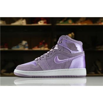 Women's Air Jordan 1 Retro High SOH Orchid Mist/White-Metallic Gold AO1847-550