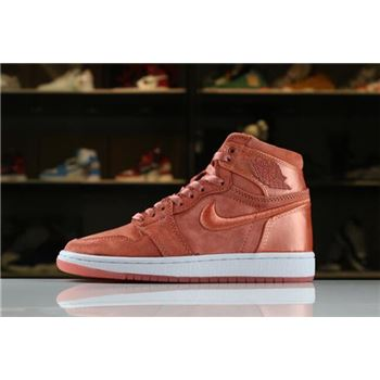 Women's Air Jordan 1 Retro High SOH Sunblush/White-Metallic Gold AO1847-640