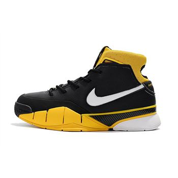 Mens Nike Zoom Kobe 1 Protro Black White Varsity Maize