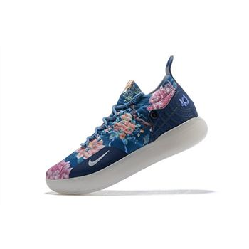 Men's Nike KD 11 Floral Blue Basketball Shoes For Sale
